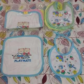 Cotton Bib and Face Towel for Baby Infant Newborn Toddler