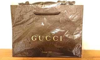 100%全新Gucci紙袋
