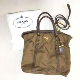 9151ce2740c5 Prada BN2031 Tessuto Nylon Convertible Top Handle Long Tote Bag - Corinto