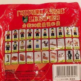 可口可樂人氣足球LEGO 43個 95% NEW 不散賣 包括隱藏金版 (2002年出產)