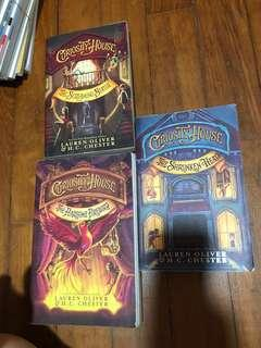 Curiosity house x3 books by Lauren Oliver and H. c Chester
