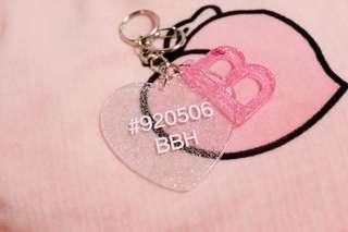 Exo Baekhyun Heart B Fansite Keyring