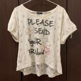 🚚 🧧字母短版上衣