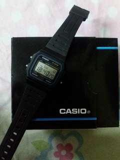 Casio F-91W-1D Black Resin Strap Watch (UNISEX)