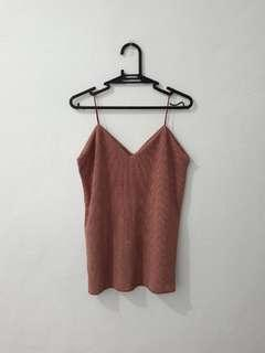 Muted pink sleeveless top