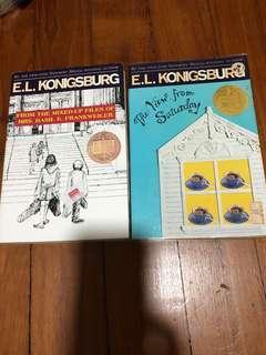 Books x 2 by EL Konigsburg