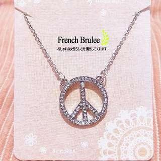 【現貨】日 韓 閃亮 水鑽 圓環 造型 銀色 項鍊 / 銀飾