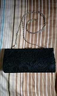 🚚 Black Lace Crossbody