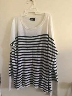 Striped sweater size M