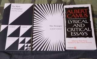 3 for P500: Albert Camus Books