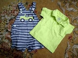 Carter's baby clothes terno (3-6mos)