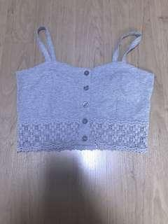 🚚 Grey Crochet Bralet