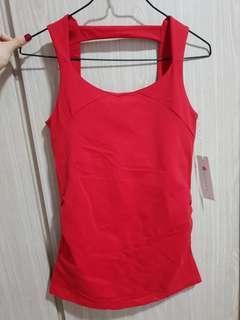 Kira Grace Red Yoga Tank top Size s