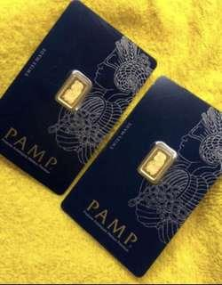 Original - PAMP - 1g gold bar ❤️❤️