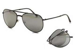Authentic Burberry Black Mirrored Aviator Sunglasses