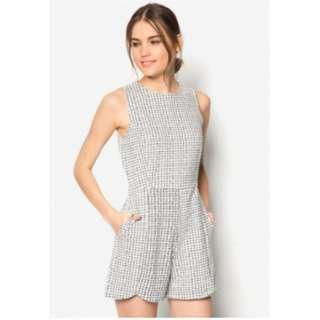 Something Borrowed Women Printed Structured Romper (XS) *Pre-loved*