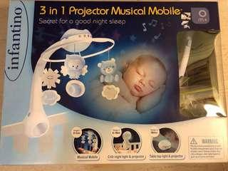 Infantino 3-in-1 Projector Musical Mobile 3合1音樂床鈴+星星投射