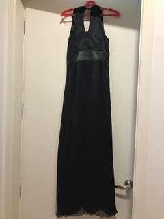Dark grey evening dress