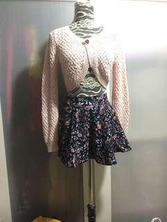 Pink with Gold threads, and Floral skirt, no bargaining
