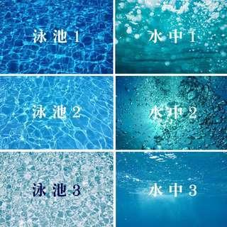 🚚 ●台灣現貨●【哇來WaLai】攝影佈景組-拍攝背景 拍照桌巾 拍照背景 壁紙 拍照布景桌布 拍照道具 游泳池 水池 IG