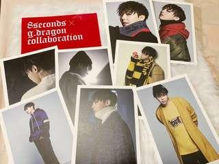 G-Dragon x 8 Seconds Postcard Set
