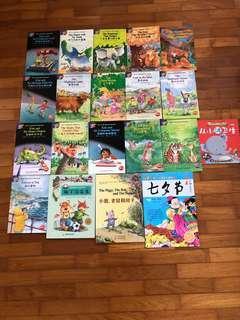 🚚 Set of 20 Bilingual books (English and Chinese)