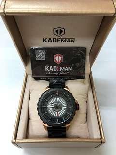 KADEMAN 瑞士潮牌黑鋼錶