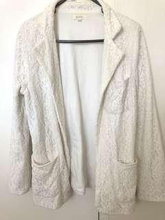 White jacket cotton & lace