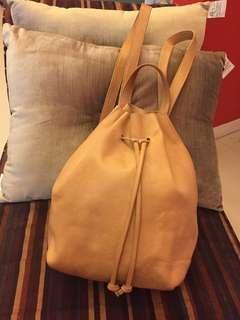 MADEWELL All Leather Backpack Bucket Bag