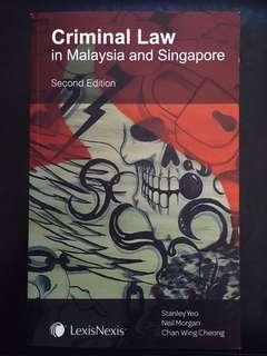 Criminal Law in Malaysia and Singapore
