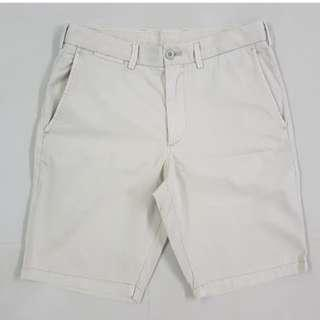 Uniqlo Bermudas Men Brown Casual Shorts Men Size 30