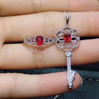 Preorder-Natural Ruby Sapphire Emerald Ring set