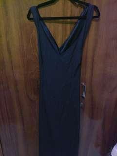 Longdress black sexy back (model silang)