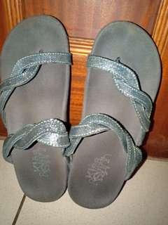 Black sandal made in singapore