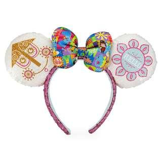 [PO] Disney Minnie Mouse Sequined Ear Headband with Satin Bow - Disney it's a small world