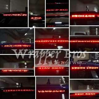 CHR brake light customise tint