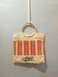 NEW White casual light holiday Bali tote bag