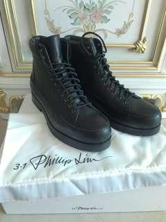 3.1phillip lim summit black leather short boots brand new  size43.5 100%real 情人節 禮物
