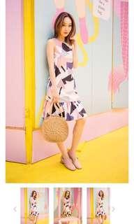 🚚 Modern Tetris Geometry Dropwaist Dress