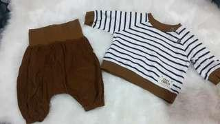Preloved Long sleeve and pants for baby boy