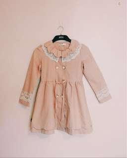 Korean Style Pastel Pink Dress Coat