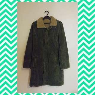 Thick Japanese Fur Wool Coat
