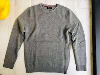 Zara Grey Ribbed Sweater