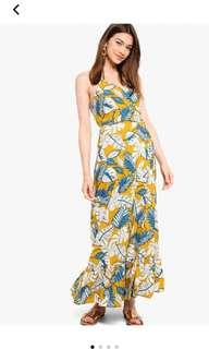 Tropical maxi wrap dress #jan50