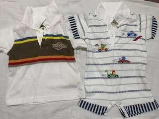 All-in OshKosh B'gosh Shirt and Hush Hush onesie