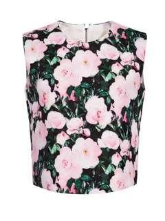 Floral print sleeveless top