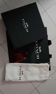 AUTHENTIC Coach dustbag, ribbon, box and paper bag (Medium)