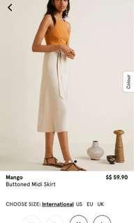 🚚 Mango buttoned midi skirt