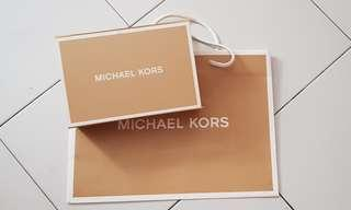 AUTHENTIC Michael Kors long wallet box, paperbag and wrappers