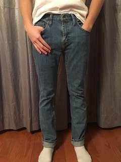 Vans men slim skinny medium wash jeans